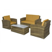 Patio Wicker Conversation Set On Sale