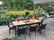 Outdoor Wicker Extendable Dining Set On Sale