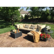 Patio Wicker Sectional Sofa Set