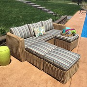 Patio Wicker Sofa Set On Sale