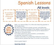 Spanish Lessons - All levels (Toledo Area)